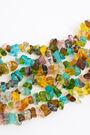Collar corto vidrios multicolor