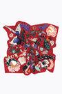 Pañuelo lunas y mariposas rojo