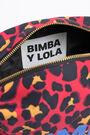 Neceser rectangular nylon leopardo rojo