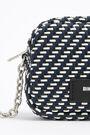 Bolso bandolera XS trenzado azul