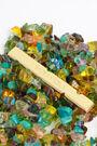 Pulsera vidrios multicolor